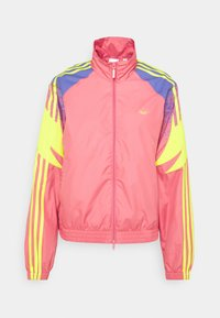 adidas Originals - TRACK - Summer jacket - hazy rose/acid yellow/joy purple - 7