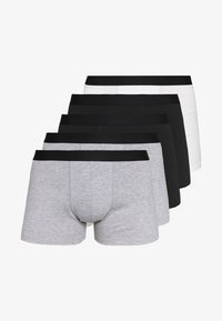 5 PACK - Panties - black/mottled grey