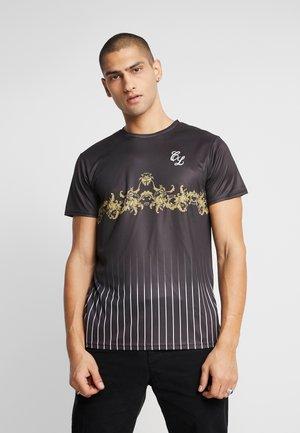 BAROQUE PIN STRIPE TEE - Print T-shirt - black