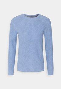 Jack & Jones PREMIUM - JPRMARCELKNIT CREW NECK - Stickad tröja - dusk blue - 0