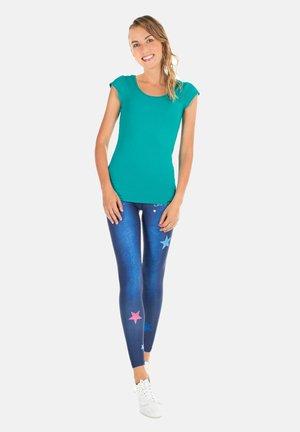 HWL102 INDIGO-BLUE HIGH WAIST -TIGHTS - Leggings - indigo blue
