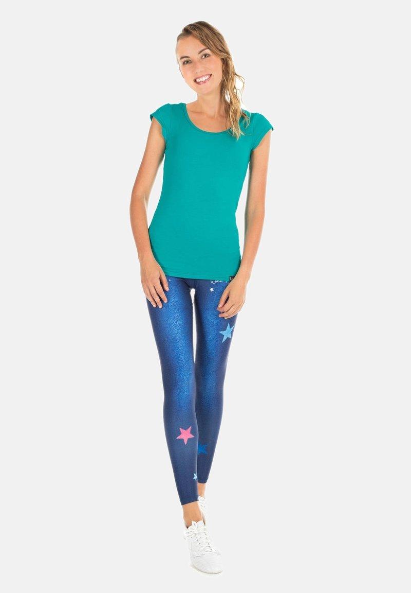 Winshape - HWL102 INDIGO-BLUE HIGH WAIST -TIGHTS - Leggings - indigo blue