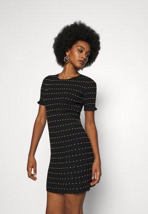 JOMY DRESS - Abito in maglia - black