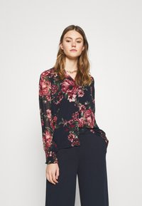 Vero Moda - VMNEWSUNILLA - Button-down blouse - navy blazer - 0