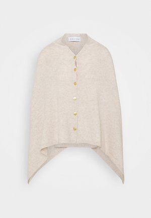 PONCHO WITH BUTTONS - Cape - light beige