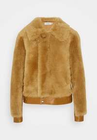 Coach - SHEARLING JACKET - Leather jacket - caramel - 0