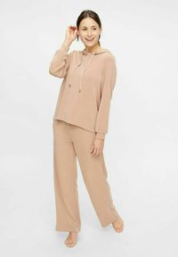 Pieces - Tracksuit bottoms - warm taupe - 1