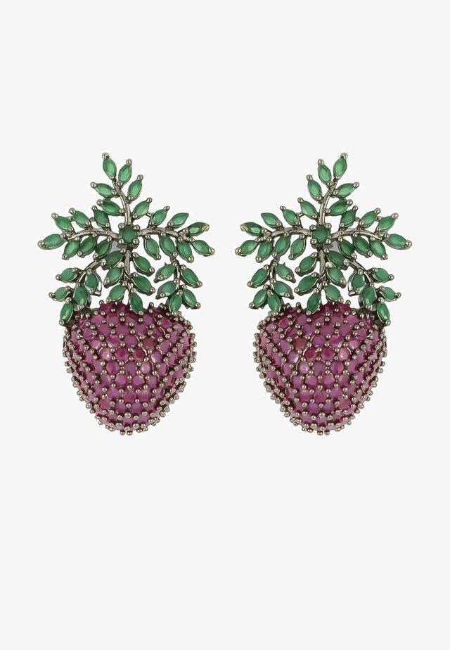 WILD STRAWBERRY - Oorbellen - mottled berry