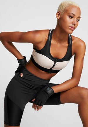ZIP BRA - Sports bra - buff