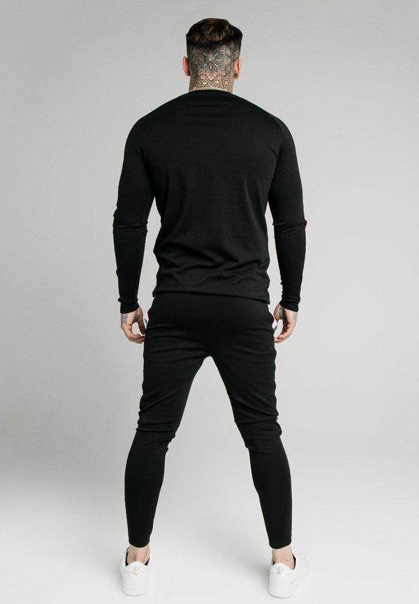 SIKSILK RETRO GYM TEE - Bluzka z długim rękawem - black/czarny Odzież Męska PCCS