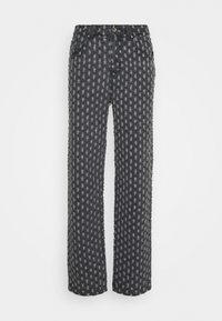 Jaded London - PULLED SKATE  - Džíny Relaxed Fit - black - 0