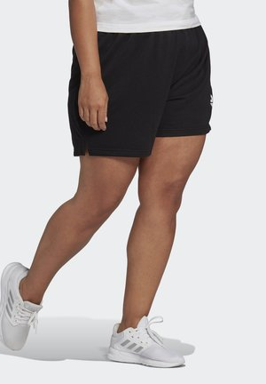 ESSENTIALS SLIM LOGO SHORTS (PLUS SIZE) - Korte sportsbukser - black/white