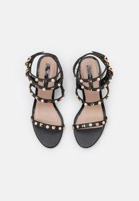 Miss Selfridge - SHANNON STUD BLOCK HEEL - Sandals - black - 5