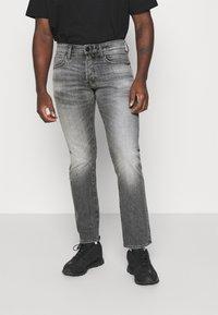 G-Star - STRAIGHT - Jeans straight leg - otas black stretch denim faded anchor - 0