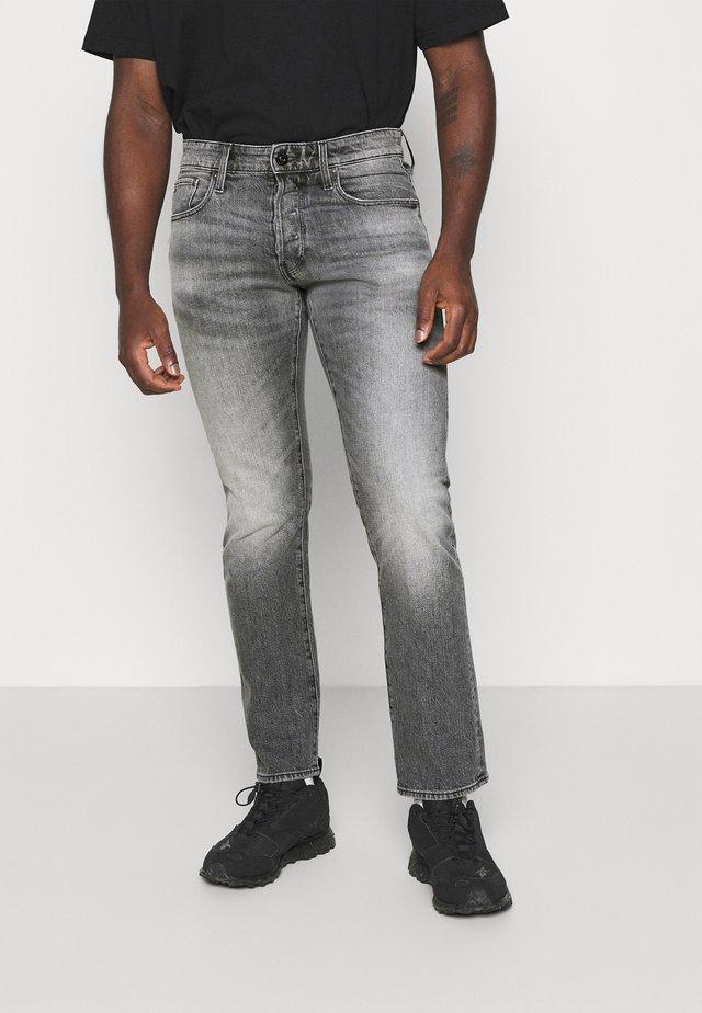 STRAIGHT - Straight leg jeans - otas black stretch denim faded anchor
