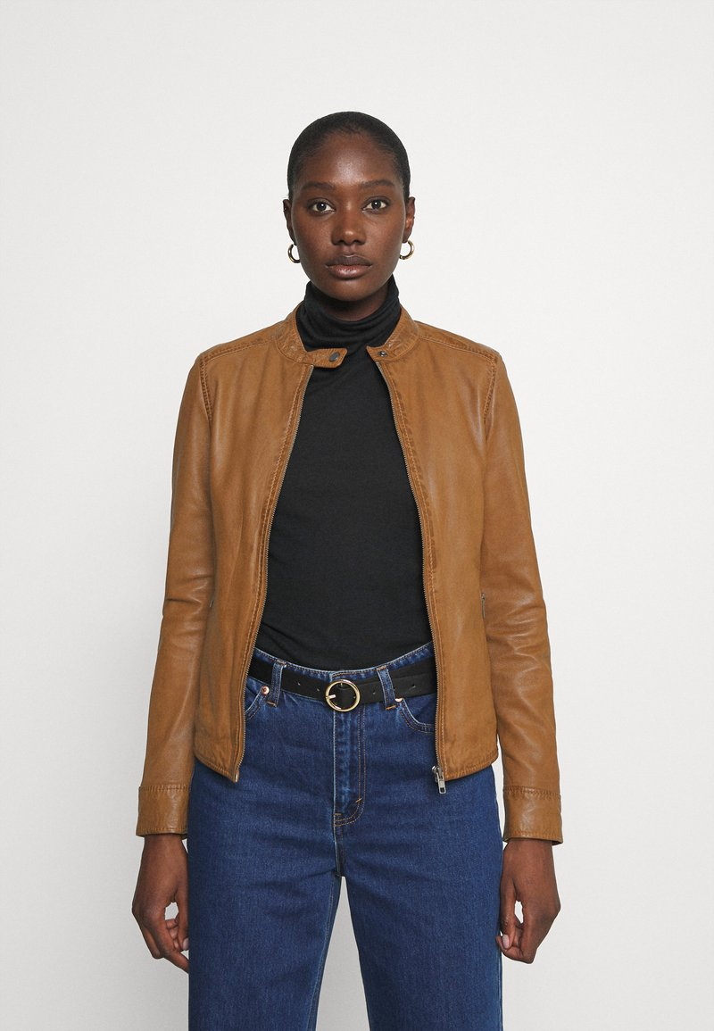 Oakwood - LINA - Leather jacket - cognac