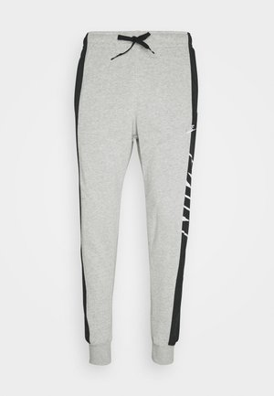 Tracksuit bottoms - grey heather/black/white