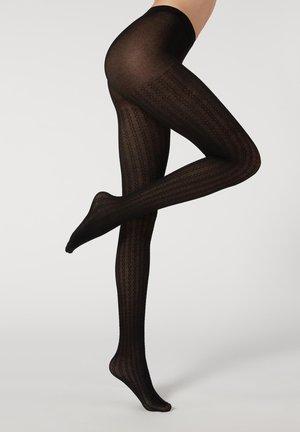 Tights - black cashmere braids