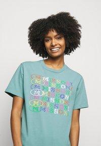 M Missoni - Print T-shirt - mottled teal - 3
