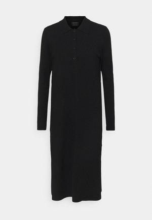 DRESS LONGSLEEVE COLLAR WITH - Jumper dress - black
