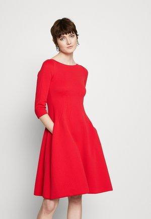 DRESS - Shift dress - red
