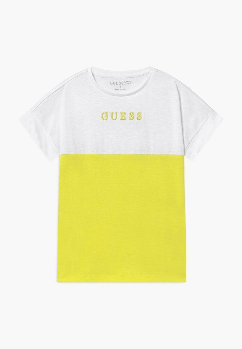 Guess - JUNIOR MIDI - Camiseta estampada - yellow