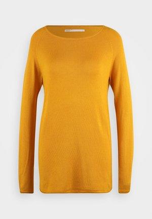 ONLMILA LACY LONG - Strikkegenser - golden yellow