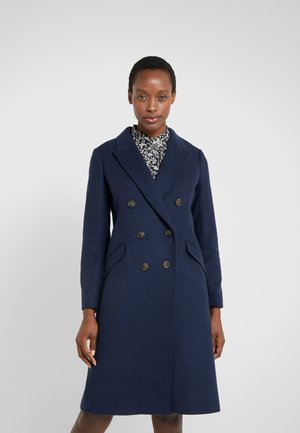 DOUBLE-BREASTED TOPCOAT - Classic coat - navy