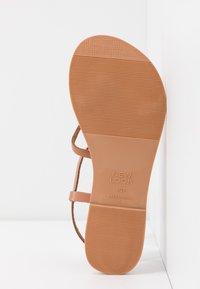 New Look Wide Fit - WIDE FIT GOA - Sandály s odděleným palcem - tan - 6