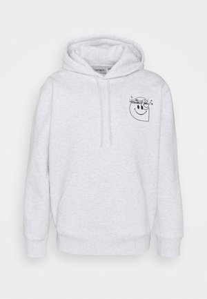 Sweatshirt - ash heather/black