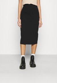 Even&Odd - 2 PACK - Pencil skirt - black/bordeaux - 2