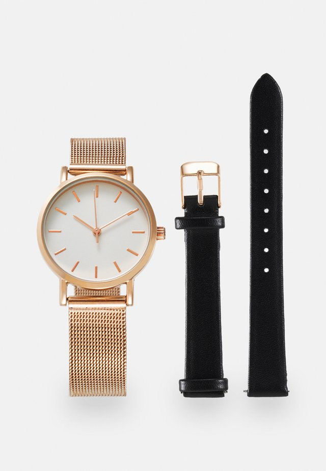SET - Uhr - rose gold-coloured/black