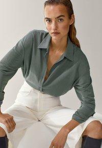 Massimo Dutti - Button-down blouse - green - 1