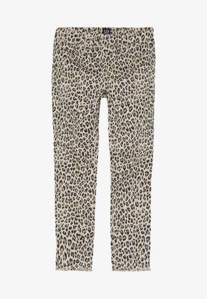 GIRL LEOPARD - Jeans Skinny Fit - beige