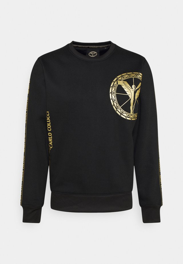 CREWNECK - Sweater - black/gold