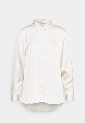 Satin Blouse - Button-down blouse - beige