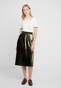 Dorothy Perkins - PLEATED SKIRT - A-linjainen hame - gold - 1