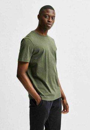 SLHNORMAN O NECK TEE  - Basic T-shirt - forest night