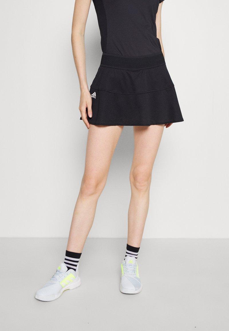 adidas Performance - MATCH SKIRT - Sports skirt - black/white