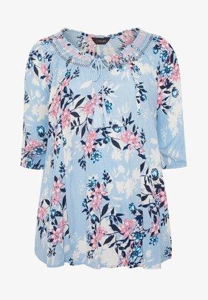SHIRRED GYPSY - Blouse - blue