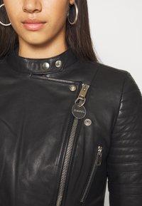 Diesel - L-IGE-NEW - Leather jacket - black - 5
