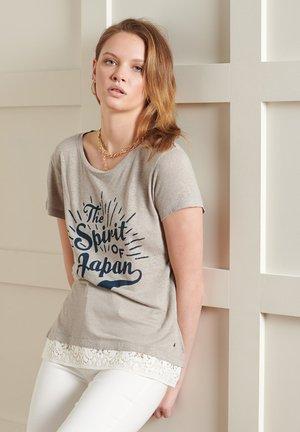 MONTAUK  - Print T-shirt - grey slate marl