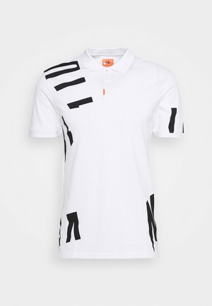 THE GOLF HACKED SLIM - T-shirt z nadrukiem - white