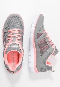 Skechers Sport - SUMMITS - Trainers - gray/coral - 3