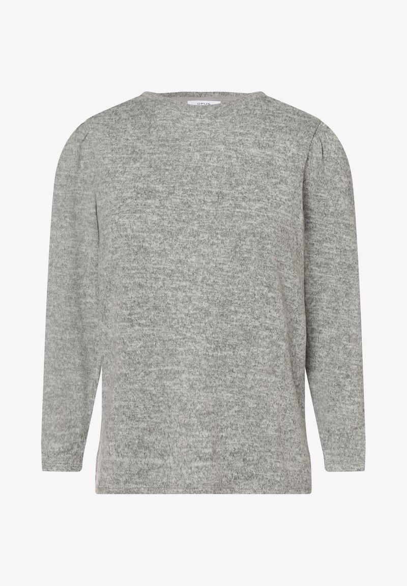 Opus - Long sleeved top - grau