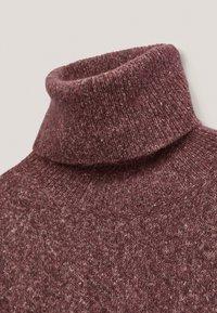Massimo Dutti - PULLOVER MIT WEITEM AUSSCHNITT - Sweater - bordeaux - 5