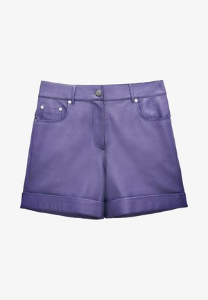 Leather trousers - lilac