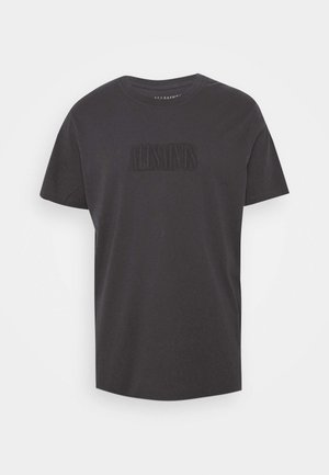 HIGHWAY CREW - Print T-shirt - washed black/jet black