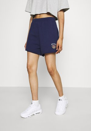 CREST EMBROIDERED LOGO - Shorts - navy peony