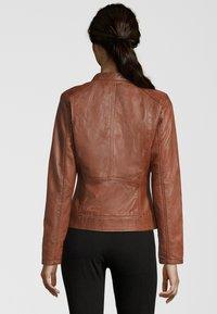 7eleven - Leather jacket - cognac - 2
